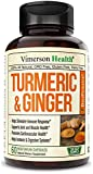 Turmeric Curcumin with Ginger, 95% Curcuminoids with BioPerine. Tumeric Supplements, Occasional Joint Pain Relief, Inflammatory Response, Plant-Based Antioxidant. Vimerson Health 60 Capsules