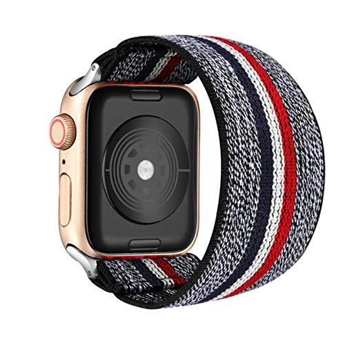 Banda de reloj elástica para Apple Watch 5 6 4 Band 38mm 40mm 42mm 44mm Pulsera de correa informal para mujer para Iwatch Series 6 5 4-rojo oscuro gris, 42MM o 44MM ML