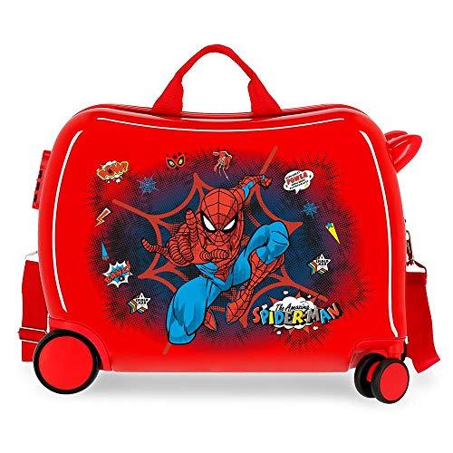 Marvel Spiderman Pop Maleta Infantil Rojo 50x38x20 cms Rígida ABS Cierre combinación 38L 2,1kgs 4 Ruedas Equipaje de Mano