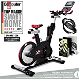 Sportstech Elite Indoor Cycle Bike | Deutsches Qualitätsunternehmen |Video Events & Multiplayer App | computergesteuertes Magnetbremssystem + 26kg Masse | Speedbike Ergometer + Sportlenker | SX600