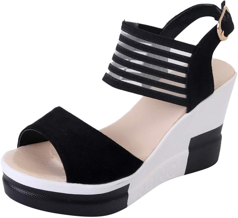 Hoxekle Wedges Women Sandals Summer Buckle Platforms Sandals Woman High Heel Womean Casual shoes Wedges Sandals