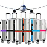 Ximimark 2 Set(4pcs) Luggage Strap Combination Lock Adjustable Luggage Packing Cross Belt Suitcase