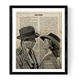 Nacnic Poster de Casablanca. Láminas de cine, películas, y actores. Posters de películas antiguas con estilo acuarela. Tamaño A4