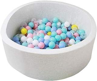 Wonder Space Deluxe Kids Round Ball Pit, Premium Handmade Kiddie Balls Pool, Soft Indoor Outdoor Nursery Baby Playpen, Ideal Gift Play Toy for Children Toddler Infant Boys & Girls (Off White)