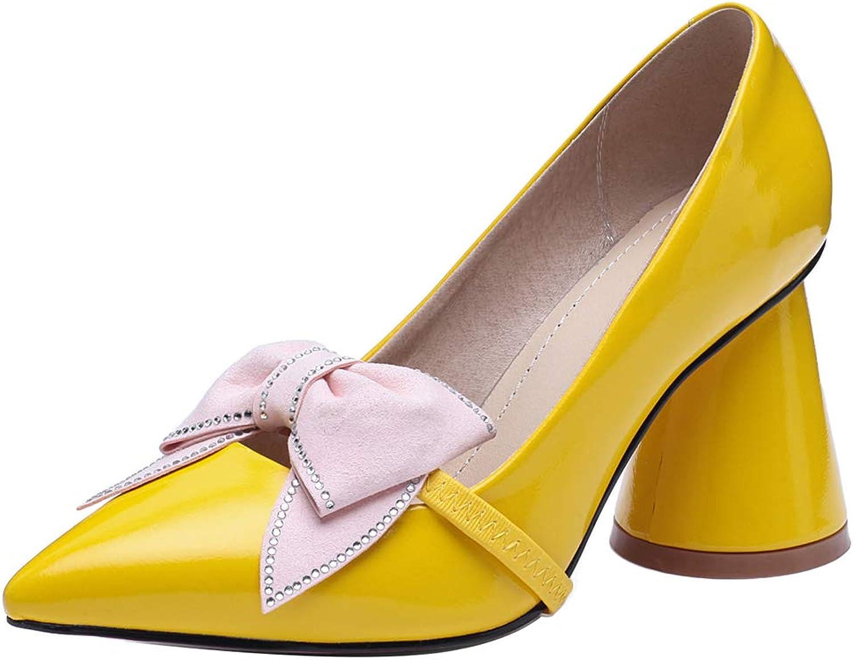 KemeKiss Women Round Heels Pumps Bowknot