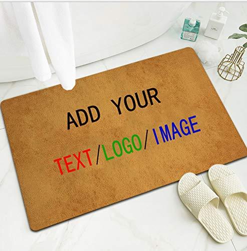 """Personalized Doormat, Custom Photo Text Image Logo Non-Slip Washable Design Mat Indoor Outdoor for Bedroom Room Garden Office, Bathroom Home (23.6""""x15.7"""")"""