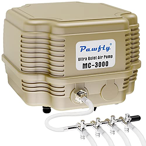 Uniclife 7 W 16 L/min Commercial Air Pump 4 Outlets Manifold Quiet Oxygen...