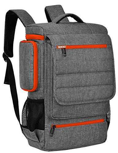 Laptop Backpack 17.3 Inch,BRINCH Water Resistant Travel Backpack for Men Women Luggage Rucksack Hiking Knapsack College Shoulder Backpack Fits 17-17.3 Inch Laptop Notebook Computer,Grey-Orange