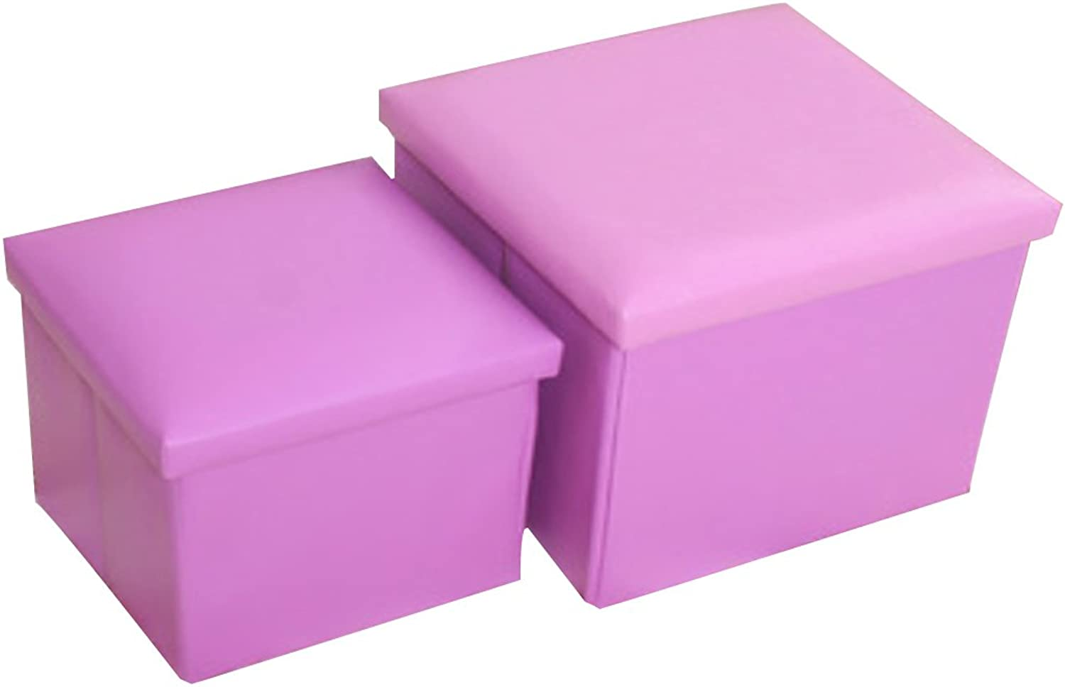 Storage Footstool Locker shoesbox Bed End Stool Sofa shoes Trying Stool (Purple, s)
