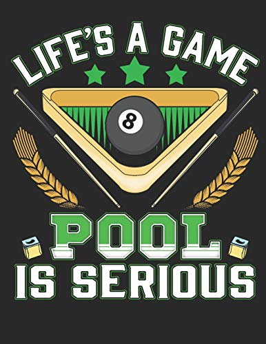 """Life is a Game Pool is Serious: Planner Weekly and Monthly for 2020 Calendar Business Planners Organizer For To do list 8,5"""" x 11"""" Pool Billiard Snooker"""
