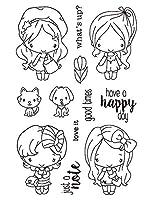 女の子と男の子透明なクリアシリコンスタンプ/DIYスクラップブッキング用シール/フォトアルバム装飾的なクリアスタンプA1096