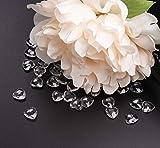 Sweelov 500Stk Funkelnd Herzen Diamantkristalle Streudeko Deko Steine Kristalle Konfetti Diamanten 12mm - 4
