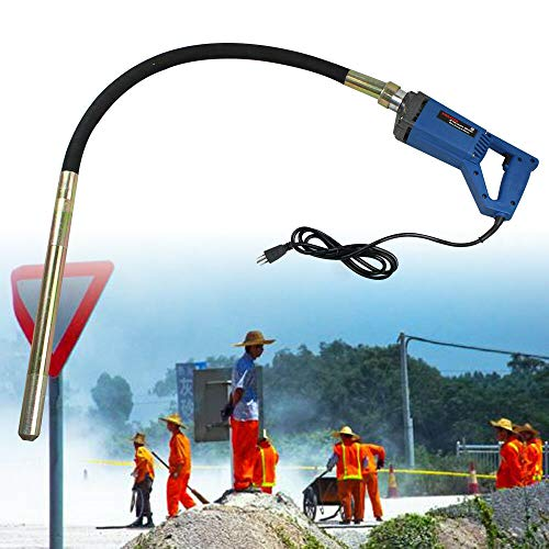 Hand Held Concrete Vibrator Power Tool 3.9Ft Shaft to Remove Air Bubbles Portable 800W