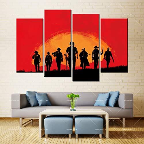 N / A Schönheit Leinwand Malerei Wandkunst rot tot Erlösung Sprühdruck wasserdichte Tinte
