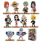 MIRECLE 10 Estilos Anime One Piece Doll Decoration Decoración de Dibujos Animados Modelo de Juguete 8cm