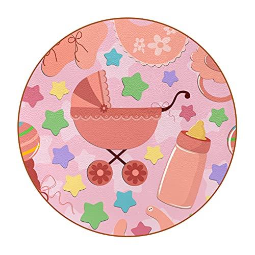 Portavasos Conjunto de 6, Chupete Cochecito de bebé Posavasos de Cuero de Microfibra Antideslizante de Doble Cara, Diseño Premium Taza de Bebida de café 11cm