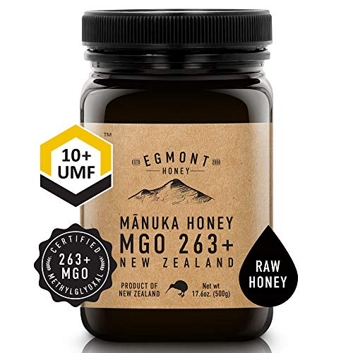 Egmont Honey Manuka Honey - MGO 263+ UMF 10+ - 17.6oz Original from New Zealand (500g)