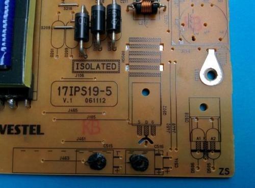 Vestel 17ips19-5p Fuente de alimentación Kit de reparación Sharp, Toshiba, Hitachi, Digihome ect