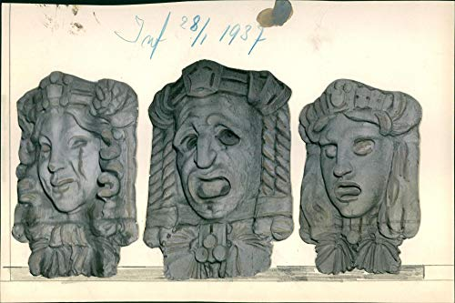 The Royal Dramatic Theatre. The masks for the performances - Vintage Press Photo
