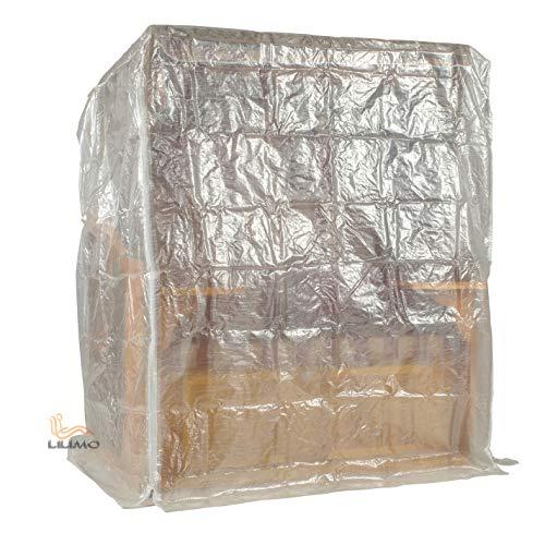 LILIMO Strandkorb Schutzhülle Basic   L   130 x 100 x 160 cm   Transparente Abdeckhaube für 2-Sitzer Strandkorb