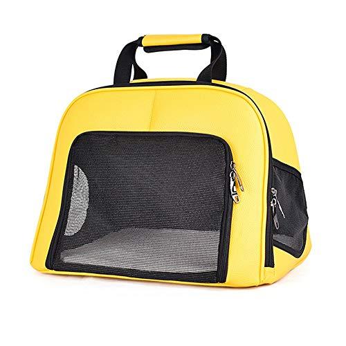 FELICILII Amarillo, marrón, Malla Transparente, transportador de Mascotas, Bolsa de Viaje Impermeable, Mochila Transpirable for cápsula Espacial for Perro Gato (Color : Marrón)