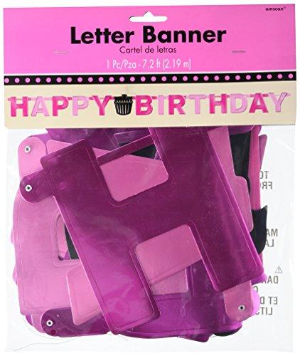 amscan International Bannière en Aluminium Inscription Happy Birthday Oh So Fabulous