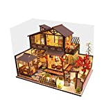 Luccase Hölzernes Puppenhaus Kit Spielzeug 3D Alte Stadt DIY Miniatur Puzzle Haus Modell Weihnachts...