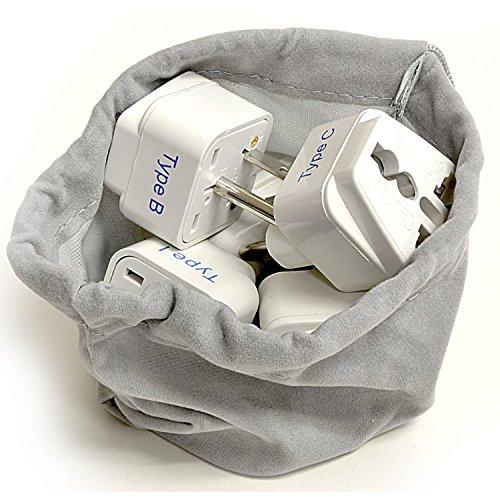 Ceptic Internacional En todo el mundo adaptador de viaje enchufe Set - funciona con teléfonos celulares, cargadores, baterías, cámaras y más