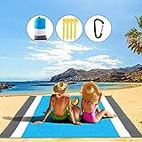 TAWAPYZ Alfombra de Playa, 210*200cm Manta de Picnic Impermeable Anti Arena con 4 Estaca Fijo Portátil y Ligero Manta para la Playa Jardín Cámping Picnic y Otra Actividad al Aire Libre