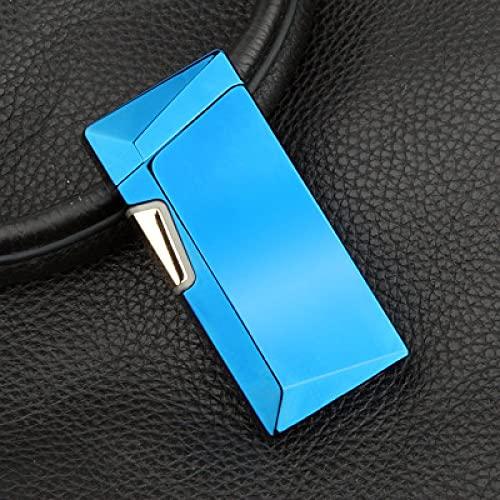 Encendedor de arco, encendedor eléctrico, Plasma USB encendedor de aleación de zinc recargable eléctrico pantalla de energía eléctrica arco cigarrillo cigarrillo para fumar azul