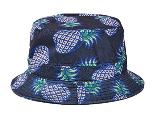 Kuyou Kuyou Damen Sonnenhut Fischerhut Ananas Sommer Kappe Hüte (Blau)