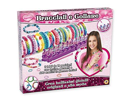 Teorema 63956 armbanden en kettingen, 600 kleurrijke elastieken en 2 canvas