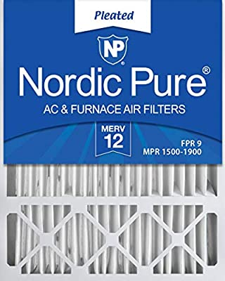Nordic Pure10x10x1MERV 8Pleated AC Furnace Air Filters