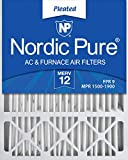 Nordic Pure 20x25x5 MERV 12 Pleated Honeywell Replacement AC Furnace Air Filter 1 Pack