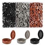 Rybtd 240 piezas Tapas de plástico para tornillos 3 colores Cubierta de Tornillo de Plástico para Tornillos Número 6 y 8 para armario,muebles,alacenas