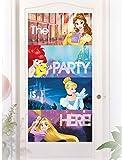 Procos-PR87886 Decoración para puerta, diseño de princesas Disney, talla, multicolor, Taglia Unica (Ciao Srl PR87886)