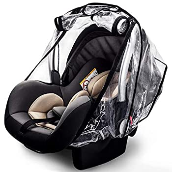 Car Seat Rain Cover,Food Grade EVA,Universal Car Seat Rain,Waterproof Windproof Protection,Protect from Dust Snow,Rain Cover Features Quick-Access Zipper Door and Side Ventilation
