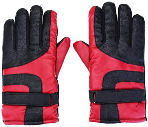 Lupovin-Keep Warm Motorcycle Gloves Winter Strong Raincoat Windproof Protective Gloves Waterproof for Men Women Non-Slip (Color : Red)