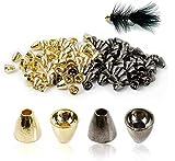 MAXIMUMCATCH Tungsten Coneheads, Fliegenbinden Materialen, 25 Stück pro Packung Schwarznickel/Gold, 5 * 4mm, 5 * 5mm, 6 * 5mm, 6 * 6mm (Gold, 5 * 5mm)