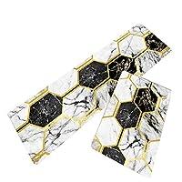 幾何学的に印刷されたキッチンラグは、防水性と耐油性のあるPVCレザーカーペットを柔らかく快適な両面滑り止めマットに退色させるのは簡単ではありません (色 : 白, サイズ : 45x120cm)