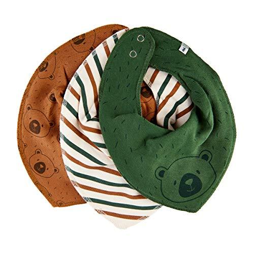 Pippi Baby-Jungen 3er Pack Lätzchen Dreieckstücher Halstuch, Braun (Adobe 213), (Herstellergröße:One Size)