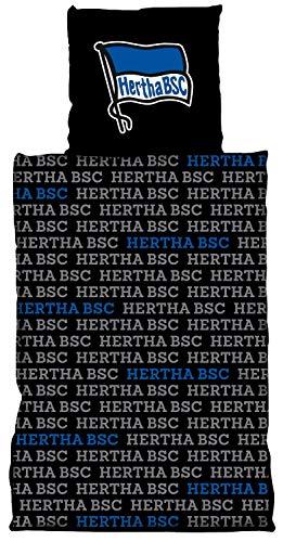 Hertha BSC Berlin Bettwäsche Allover 2-teilig (Bezug, Kissen) - Plus Lesezeichen I Love Berlin