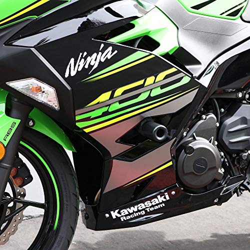 Green OES Frame Sliders and Swingarm Spools 2017 2018 2019 Kawasaki Ninja 650