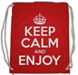 Urban Backwoods Keep Calm and Enjoy Bolsa de Cuerdas con Cordón Gimnasio