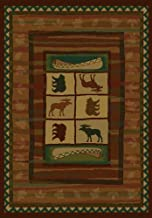United Weavers of America Genesis Collection Hearthstone Heavyweight Heat Set Olefin Rug, 7-Feet 10-Inch by 10-Feet 6-Inch, Lodge
