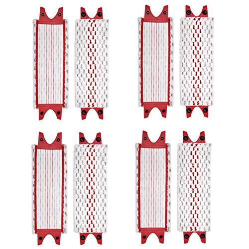 Gaetooely Almohadillas de Microfibra de Repuesto para Piso para Vileda UltraMax Mop Recambio Juego de Repuesto Cabeza de Trapeador de PaaO Plano para Fregona, 8PCS
