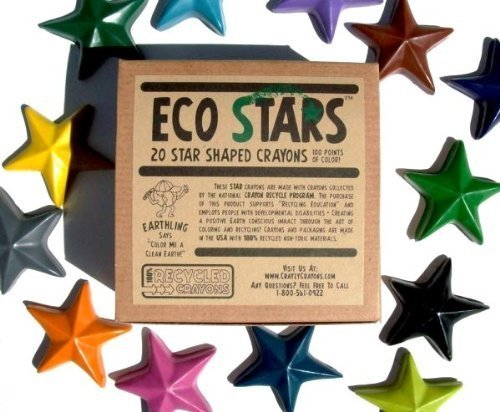 Crazy Crayons Eco Stars (100% Recycled Crayons)