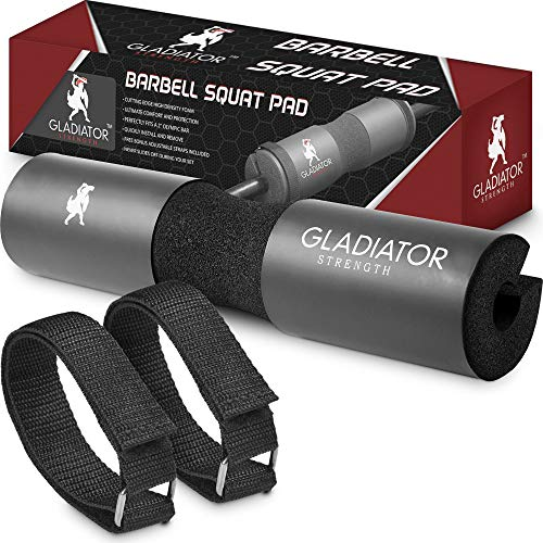 Gladiator Strength Barbell Pad– 17.5'' Extra Thick Hip Thruster Pad/Squat Bar Neck Pad