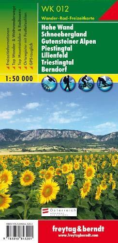 Freytag Berndt Wanderkarten, WK 012, Hohe Wand - Schneebergland - Gutensteiner Alpen - Piestingtal - Lilienfeld - Triestingtal - Berndorf - Maßstab 1:50.000