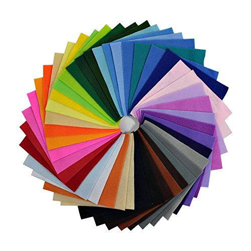 42Pcs Thick Felt Fabric Squares Sheets